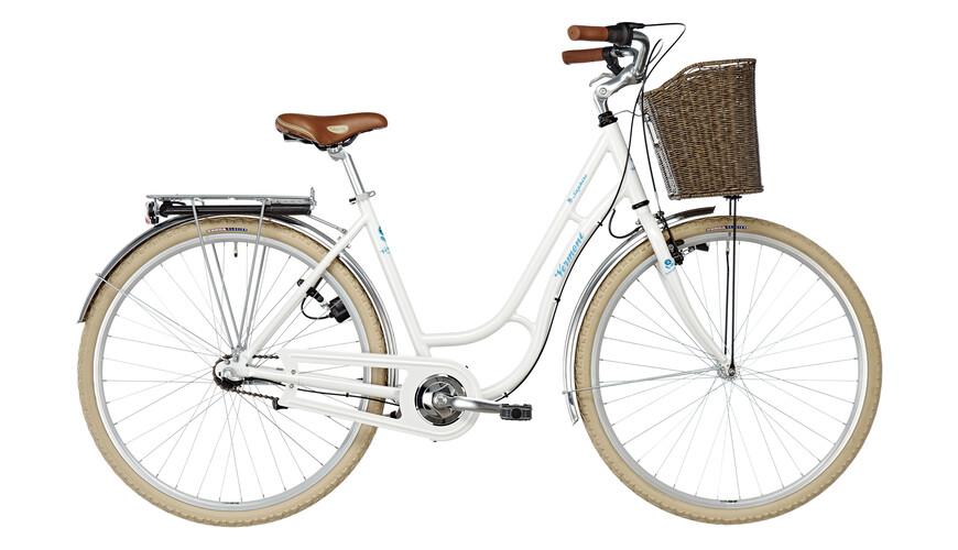 Vermont Saphire 3s kaupunkipyörä , valkoinen